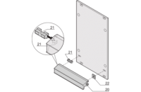 Static Handle Alu-Profile in Trapezoid Form, 4 HP