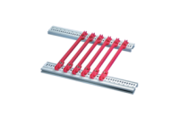 Guide Rail Standard Type, Groove Width 2 mm, 160 mm, Red, 10 Pieces