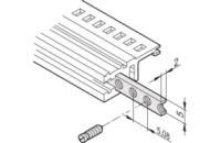 Horizontal Rails Threaded Insert, M2.5, 63 HP