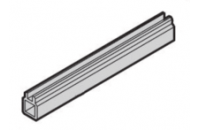 Guide Rail Multi Piece, Mid-Piece, Plastic Extrusion, 2 mm, 160 mm Board Length
