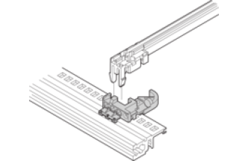 Coding Block for Accessory Type Guide Rail, Bottom, Gray
