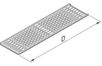 Frame Type Plug-In Unit Cover Plate, With Perforation for Guide Rails, 14 HP, PCB 167 mm
