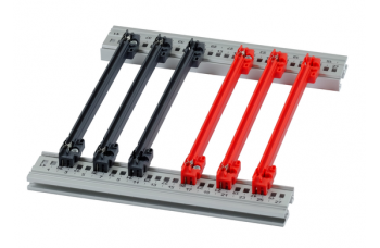 Guide Rail Accessory Type, PC, 160 mm, 2 mm Groove Width, Red, 50 Pieces