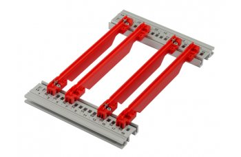 Guide Rail Accessory Type, Strengthened, PC, 220 mm, 2 mm Groove Width, Red, 50 Pieces