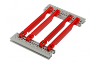Guide Rail Accessory Type, Strengthened, PC, 280 mm, 2 mm Groove Width, Red, 50 Pieces