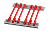 Guide Rail Standard Type, PC, 220 mm, 2.5 mm Groove Width, Red, 50 Pieces