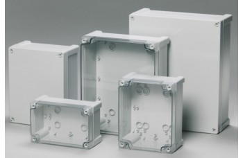 Tempo ABS Enclosure to IP65 with Grey Screw Cover